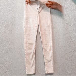Topshop high-waisted white skinny jeans